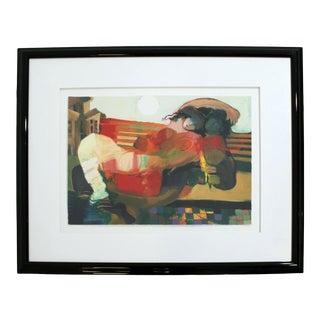 Contemporary Framed Serigraph Signed by Hessam Abrishami Spring Affair 231/395 For Sale