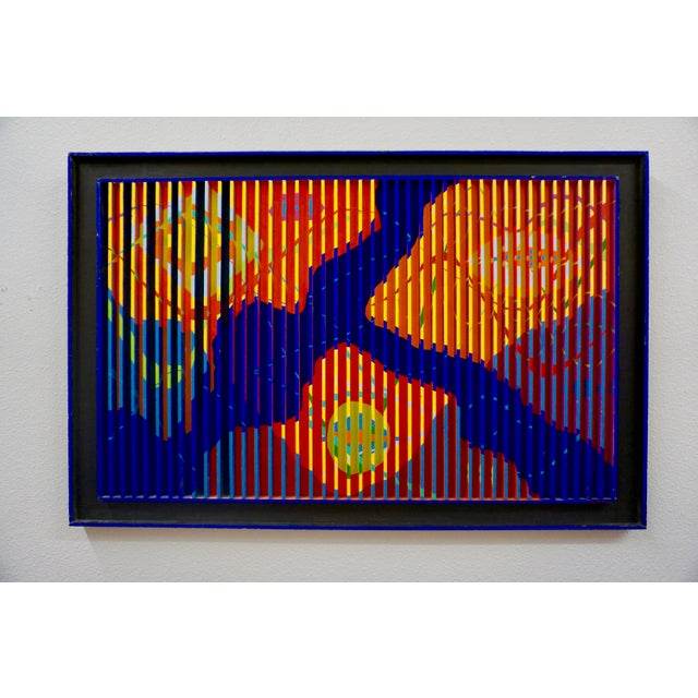 1960s Abstract Painted Relief by Louis Nadalini For Sale - Image 5 of 6