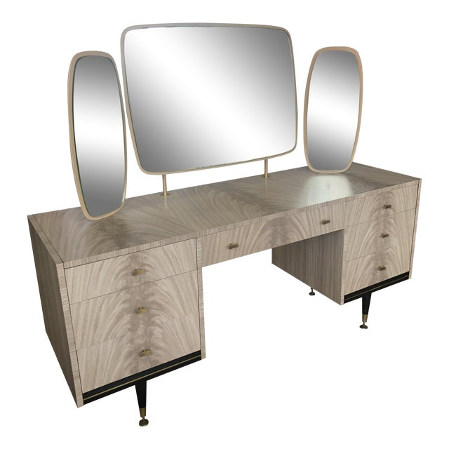Mid Century Berry Furniture Vanity For Sale