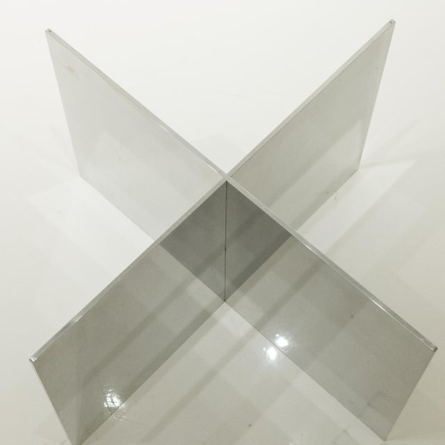 Paul Mayen Polished Aluminum Cocktail Table For Sale In New York - Image 6 of 8