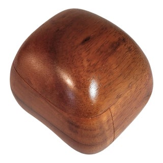Vintage Dean Santner Mid-Century Wood Rock Ring Box, Signed For Sale