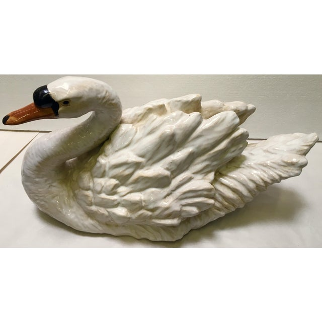 Glazed Ceramic Swans - A Pair - Image 6 of 6
