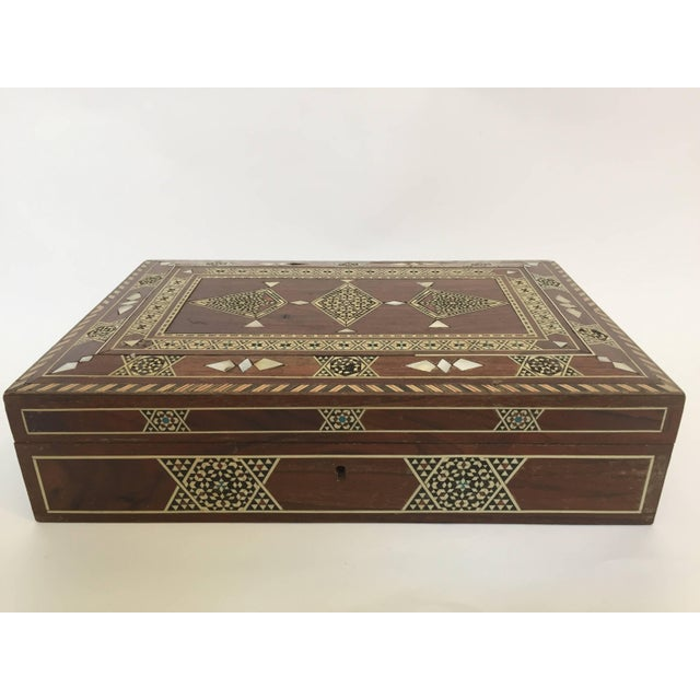 Large Islamic Syrian Wooden Micro Mosaic Box For Sale - Image 13 of 13