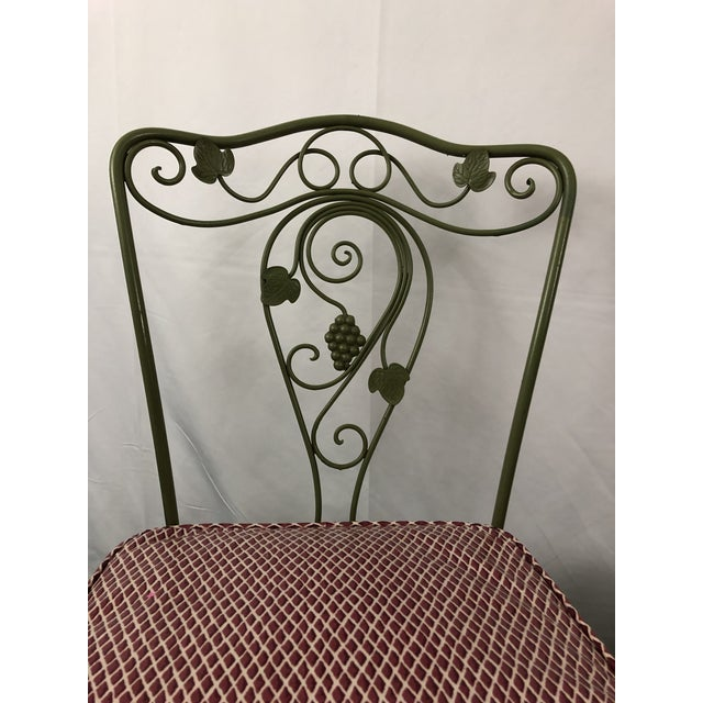 Vintage Woodard Style Wrought Iron Patio Chairs - Set of 6 For Sale - Image 12 of 13