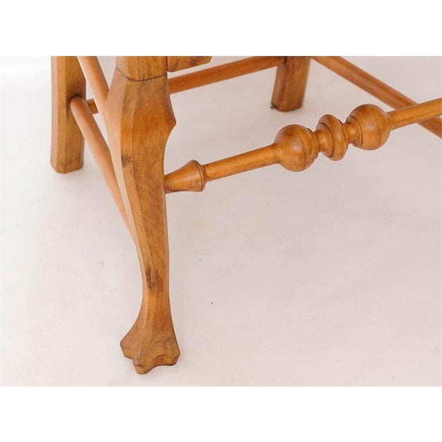 Chippendale Six Chippendale Style Tiger Maple Dining Chairs For Sale - Image 3 of 9