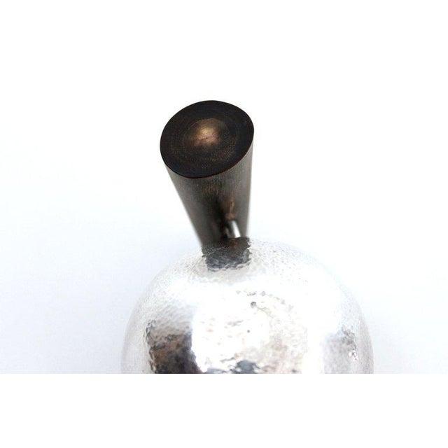 Sculptural Modernist Sterling Creamer and Sugar Bowl For Sale - Image 9 of 11