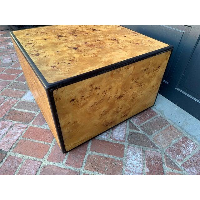 Mid-Century Modern 1970's Mid-Century Modern Burlwood Coffee Table For Sale - Image 3 of 6