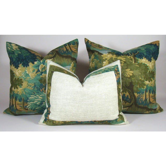 Verdure Print Linen Large Pillow Cover For Sale - Image 9 of 10