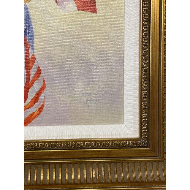 """""""Stars and Stripes"""" Contemporary American Flag Giclee by Debbie Hearle, Framed For Sale - Image 4 of 5"""