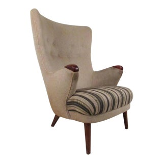Hans J. Wegner Style Lounge Chair For Sale