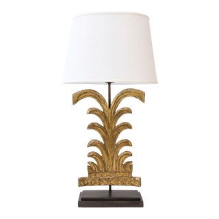 Gilded Custom Table Lamp For Sale