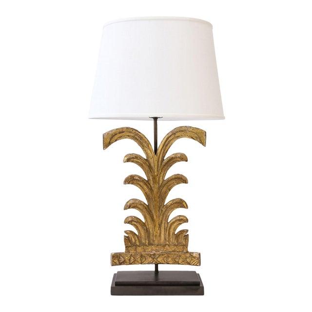 Gilded Custom Table Lamp For Sale