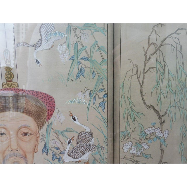 Hand Painted Chinese Ancestor Portrait Paintings - a Pair For Sale - Image 11 of 13
