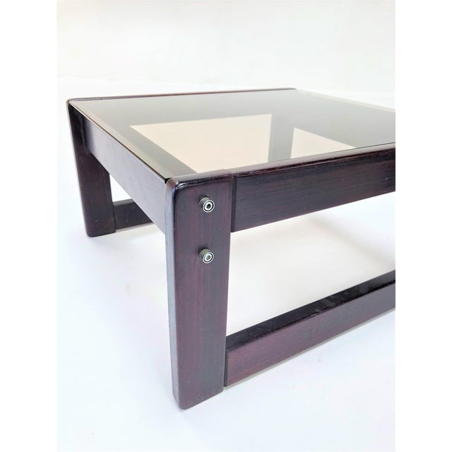Mid-Century Modern 1960s Mid-Century Modern Percival Laver Rosewood and Glass Side Tables - a Pair For Sale - Image 3 of 13
