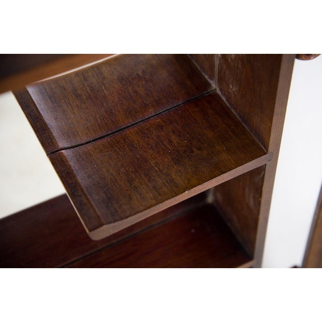 Traditional 1960s Victorian Mahogany Decorative Wall Mirror With Shelves For Sale - Image 3 of 9