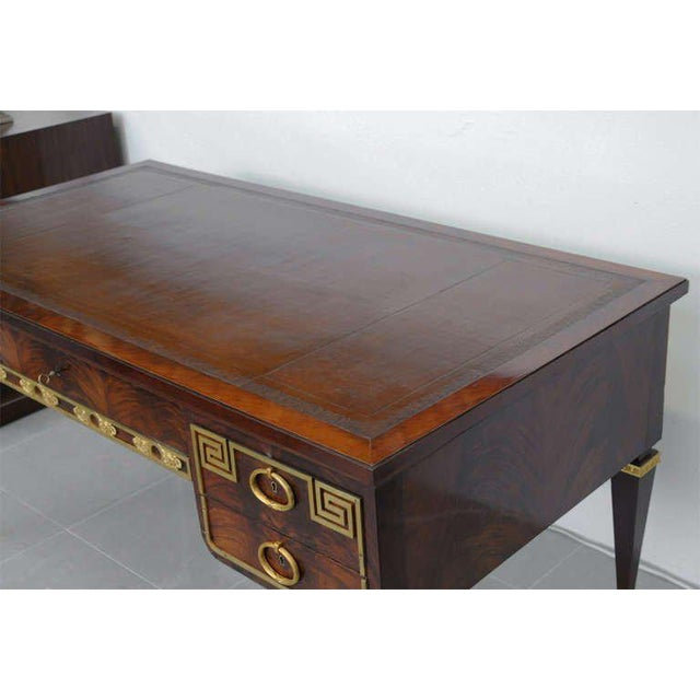 Art Deco Fine French Ormolu-Mounted Desk, by Forest For Sale - Image 3 of 11