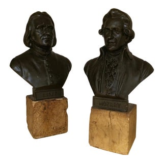 Musician Busts of Mozart and Liszt - A Pair For Sale