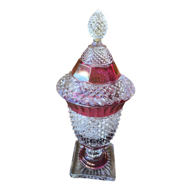 Westmoreland Glass English Hobnail Large Candy Dish For Sale