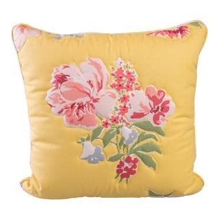 Cottage Custom Floral Quilted Pillow