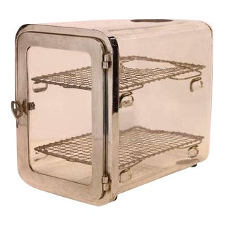 1930's Barber Shop Chrome Sterilizer Cabinet For Sale