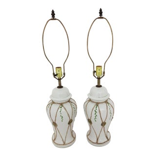 Vintage Ceramic Lamps - A Pair For Sale