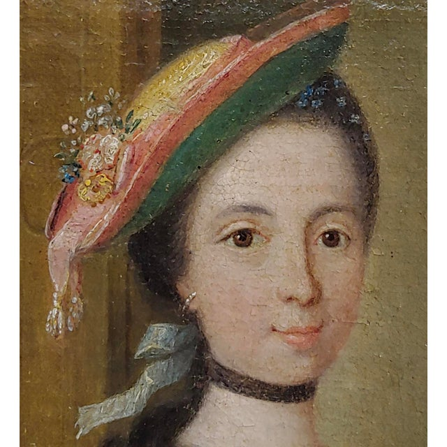 """18th Century """"Aristocratic Lady & Her Black Slave"""" Oil Painting by Friedrich Ludwig Hauck For Sale - Image 4 of 10"""