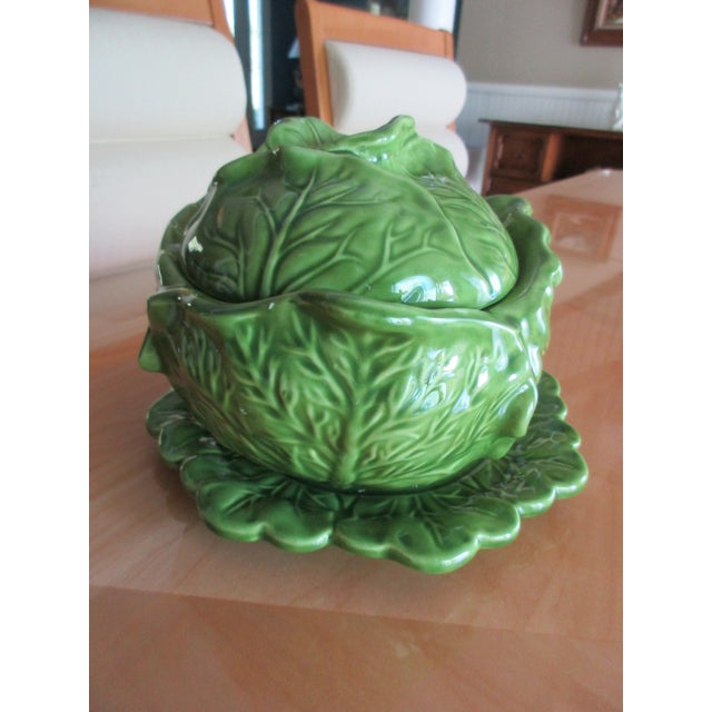 Vintage Holland Mold Cabbage Dish or Tureen For Sale - Image 4 of 10