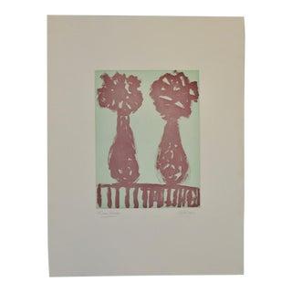 "Arthur Krakower Monotype ""Twin Vases Ii"" C.2004 For Sale"