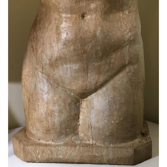 Vintage Marble Female Torso Statue For Sale - Image 4 of 11