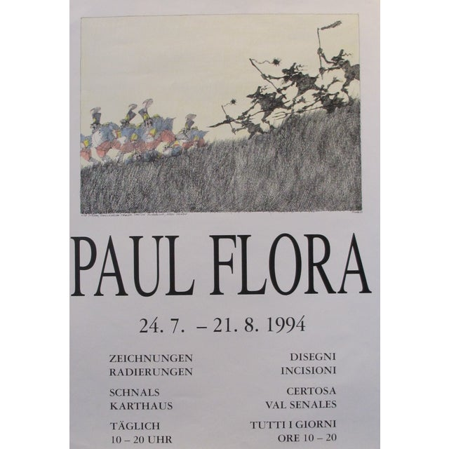 1994 Original German Exhibition Poster, Paul Flora - Image 1 of 3