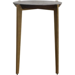Traditional Axel Iron and Wood Accent Table