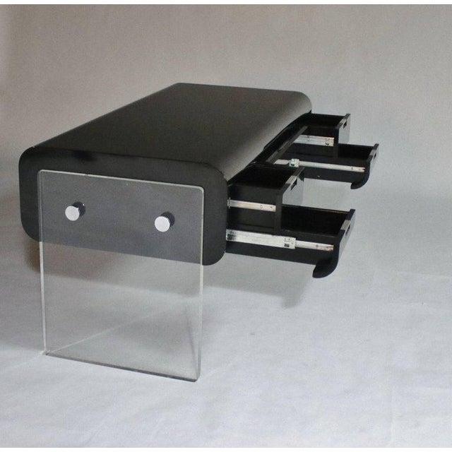 Black Pace Floating Desk on Lucite Frame For Sale - Image 8 of 10