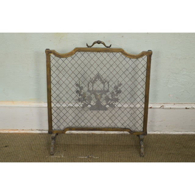 Maitland Smith French Louis XV Style Rococo Bronze Fire Screen For Sale In Philadelphia - Image 6 of 13