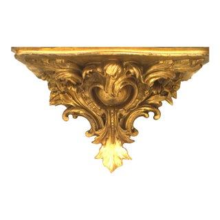 Italian Rococo Gilt Bracket Shelf For Sale
