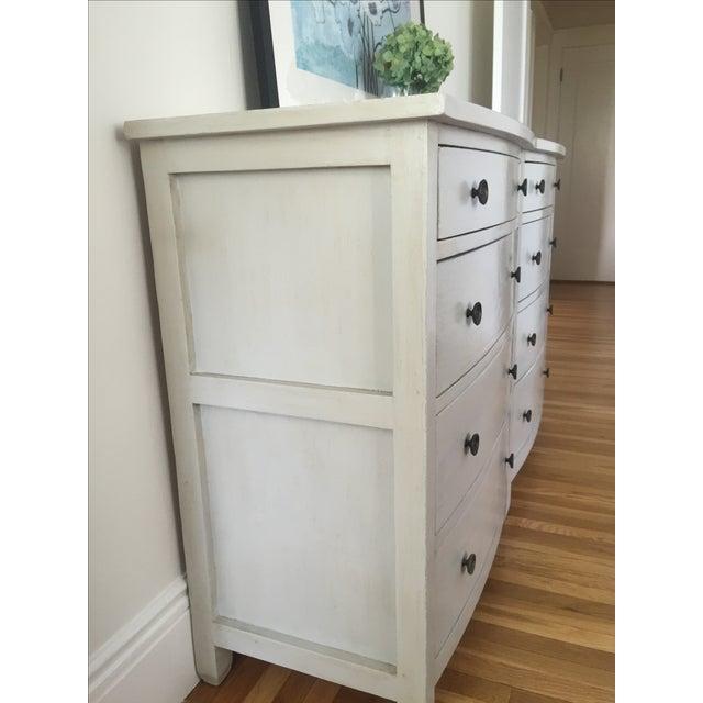 Shabby Chic Light Gray Dresser - Image 4 of 11