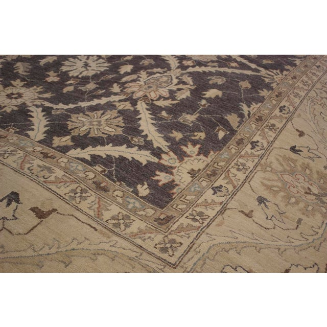 Kafkaz Peshawar Adena Charcoal/Tan Hand-Knotted Rug - 11'10 X 15'1 For Sale In New York - Image 6 of 8