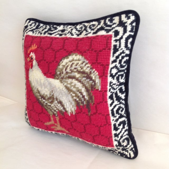 Petite Embroidered Rooster Accent Pillow - Image 7 of 7