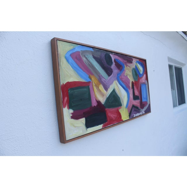 Abstract 1986 Vintage Expressionist Painting For Sale - Image 3 of 10