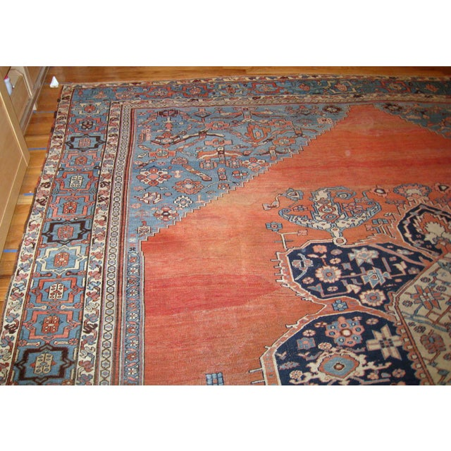 Late 19th Century 1880s, Handmade Antique Persian Bakshaish Rug 11' X 15.7' For Sale - Image 5 of 10