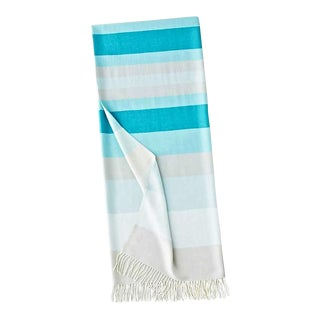 Peruvian Turquoise Baby Alpaca Throw