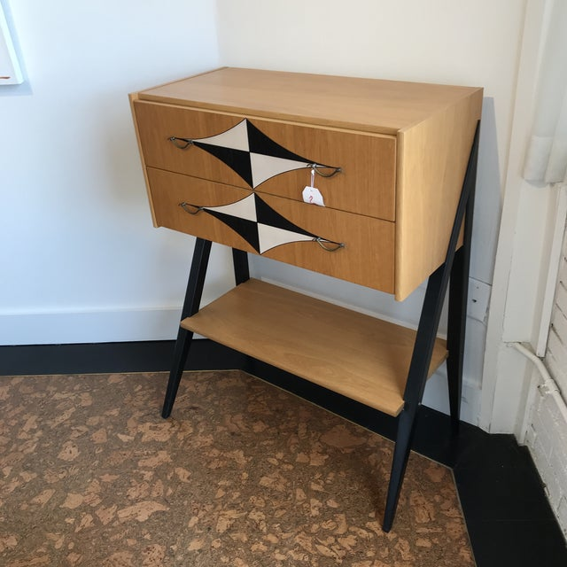 1970s Mid-Century Tall V Leg Cabinet For Sale - Image 5 of 7