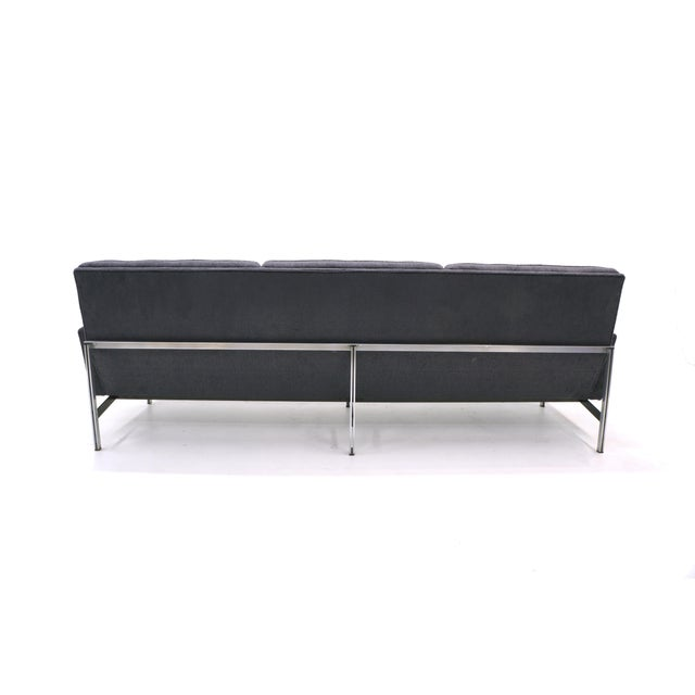 Mid-Century Modern Florence Knoll Parallel Bar Sofa, Early Production, Restored, Excellent For Sale - Image 3 of 6