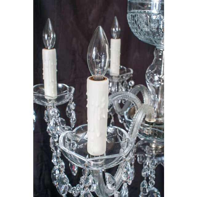 Metal Neoclassical Style Crystal Chandelier For Sale - Image 7 of 11
