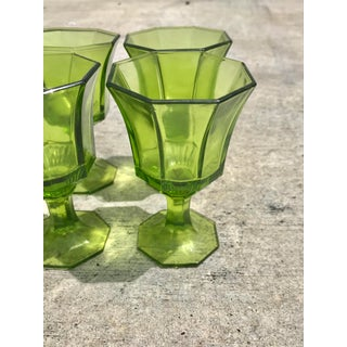Mid-Century Modern Green Cordial Glasses - Set of 8 Preview
