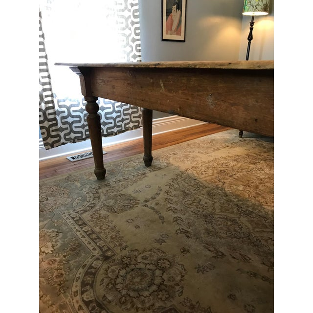 Antique Farmhouse Dining Table - Image 7 of 10