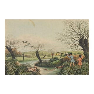 "1824 ""Wild Duck Shooting"" Etching Print For Sale"