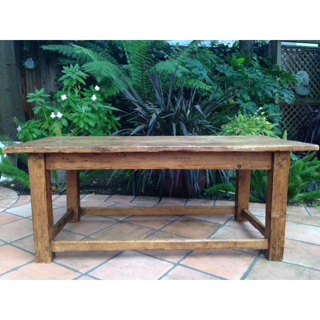 French Antique Pine Coffee Table - Image 3 of 5