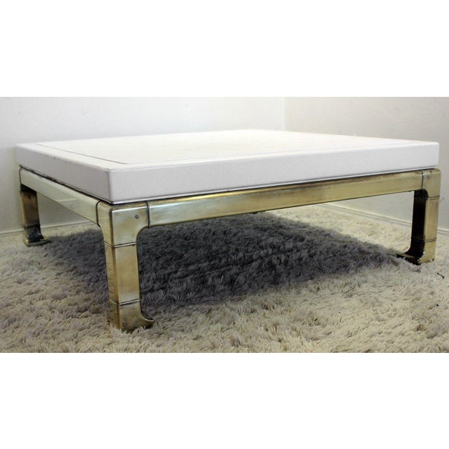 Mastercraft Brass and Lacquered Coffee Table - Image 4 of 8