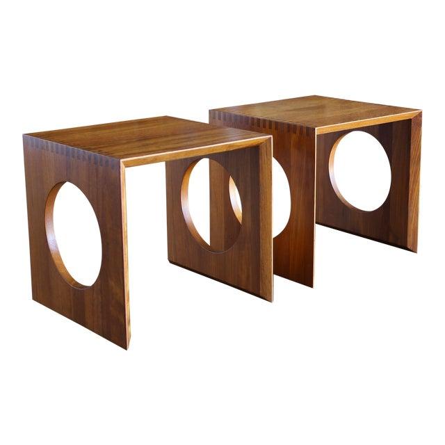 1960s Peter Hvidt for Richard Nissen Cube Nesting Tables - a Pair For Sale