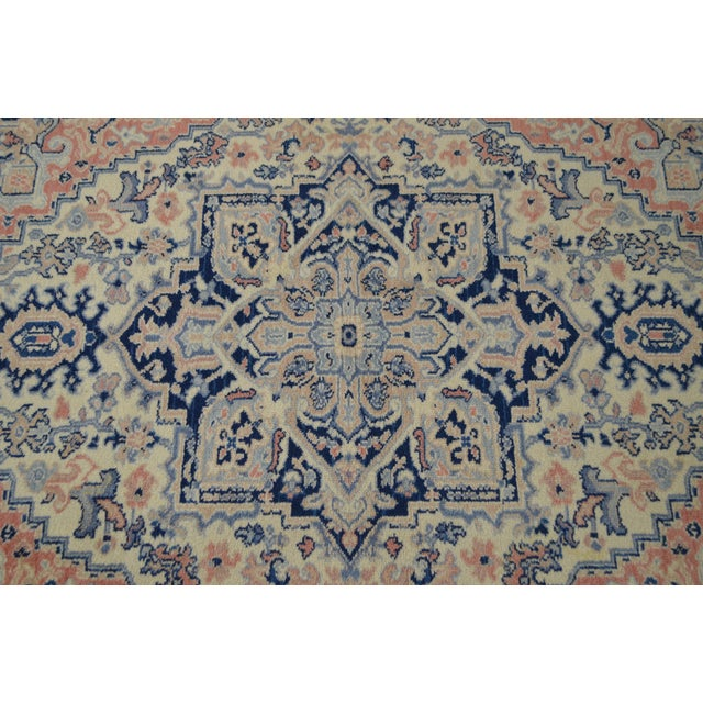 Karastan 4.3' x 6' Blue Heriz Area Rug #748 For Sale In Philadelphia - Image 6 of 13
